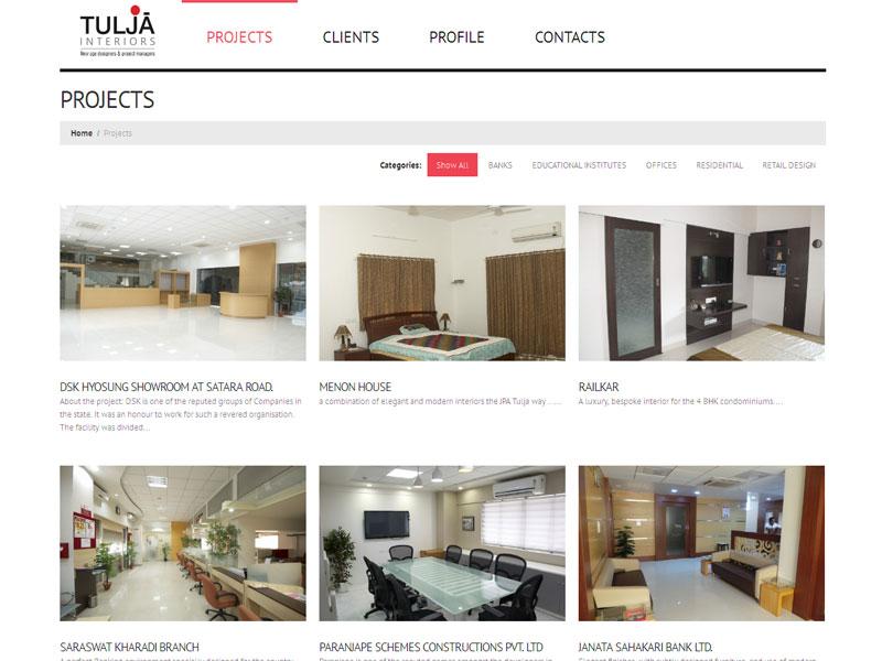 tulja-interior-project page