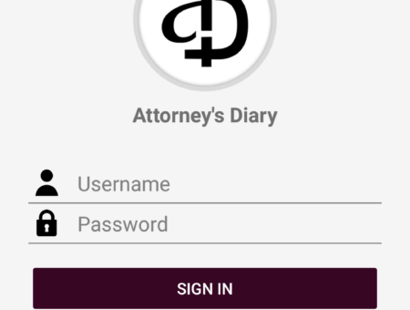 Attorney's Diary Mobile App