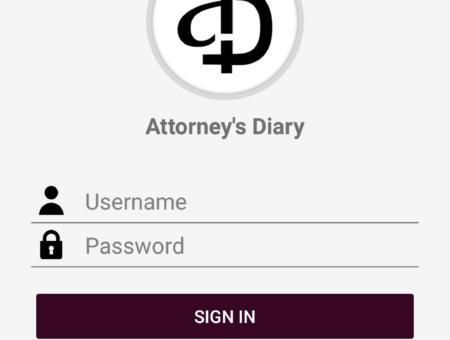 Attorney's Diary Mobile App